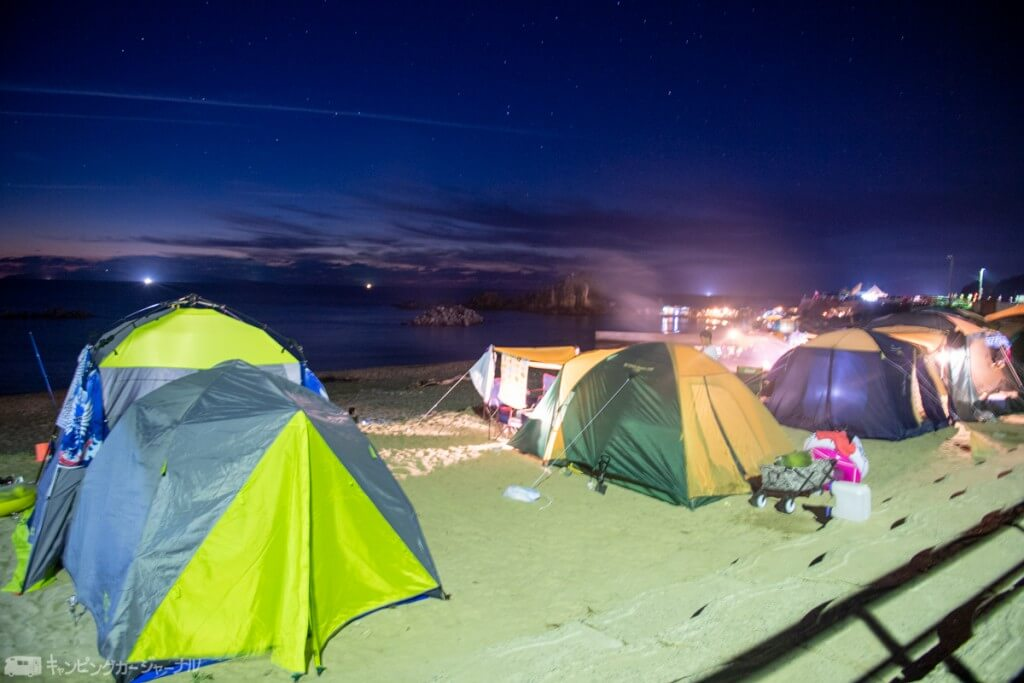 山形県の海岸沿いキャンプ場