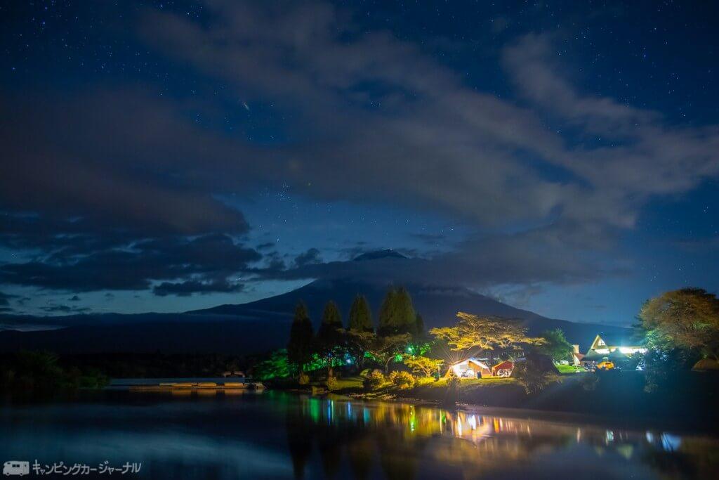 田貫湖から見える富士山