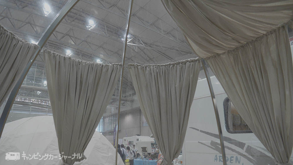 夜空が見えるテント
