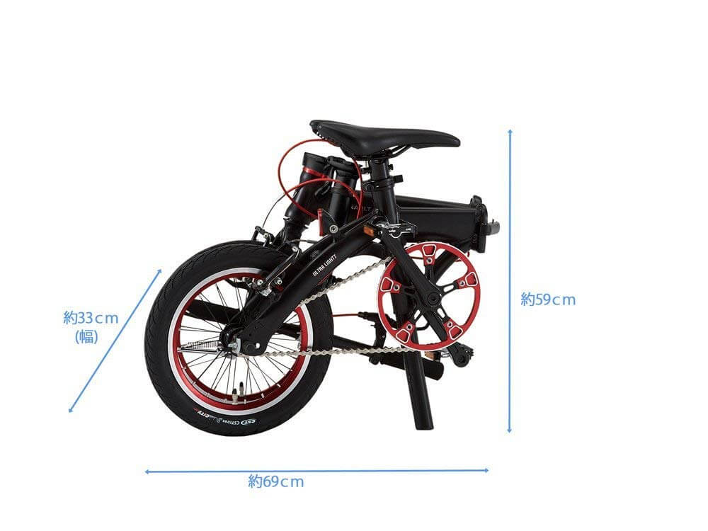 RENAULT(ルノー) ULTRA LIGHT 7 AL-FDB140 【ウルトラ7 超軽量7.4kg 超小型 14インチ折りたたみ自転車 最軽量クラスモデル登場】 前後Vブレーキシステム搭載 大型クランク採用 高さ調整機能ステム搭載 フロントクイックレリーズハブ 11260