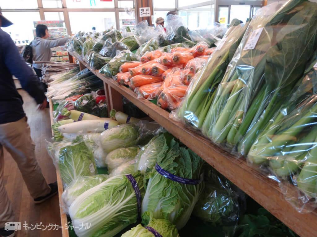 みちの駅はくしゅう野菜売り場