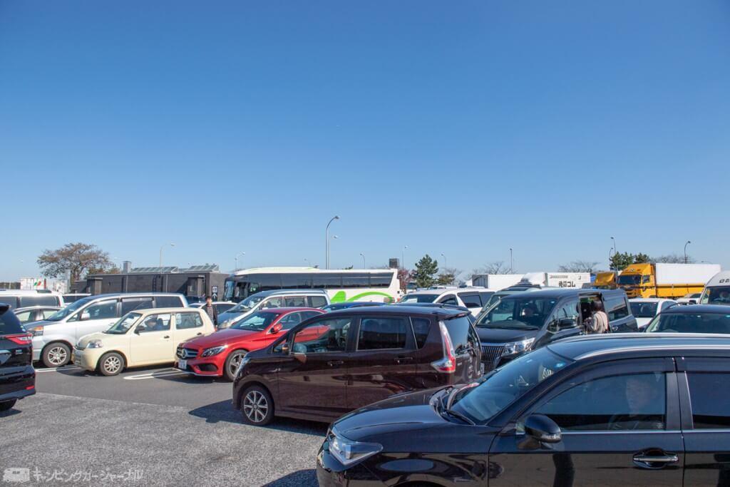 羽生PA 下り線 駐車場