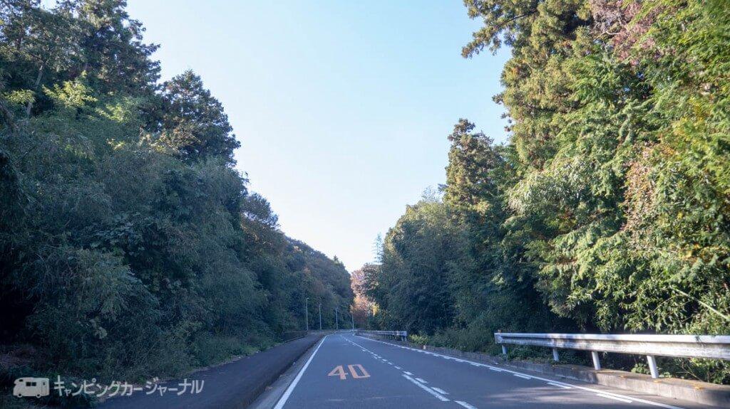 田代運動公園前河川敷までの道のり