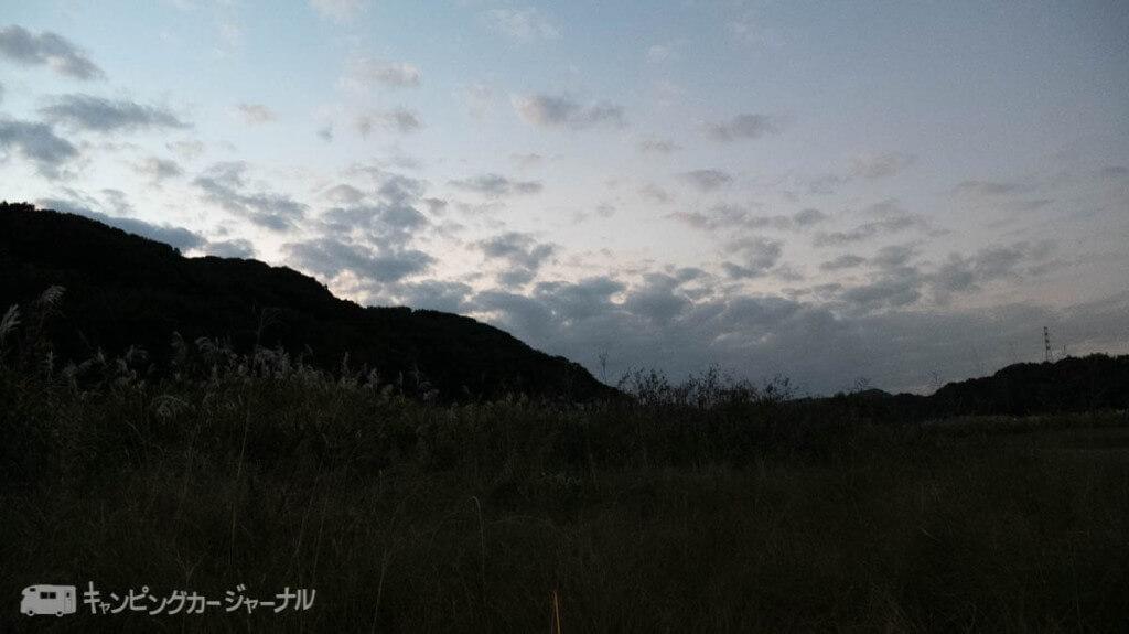 田代運動公園夕方