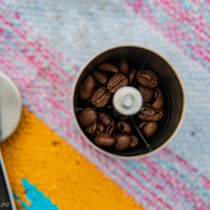 豆が入ってるコーヒーミル