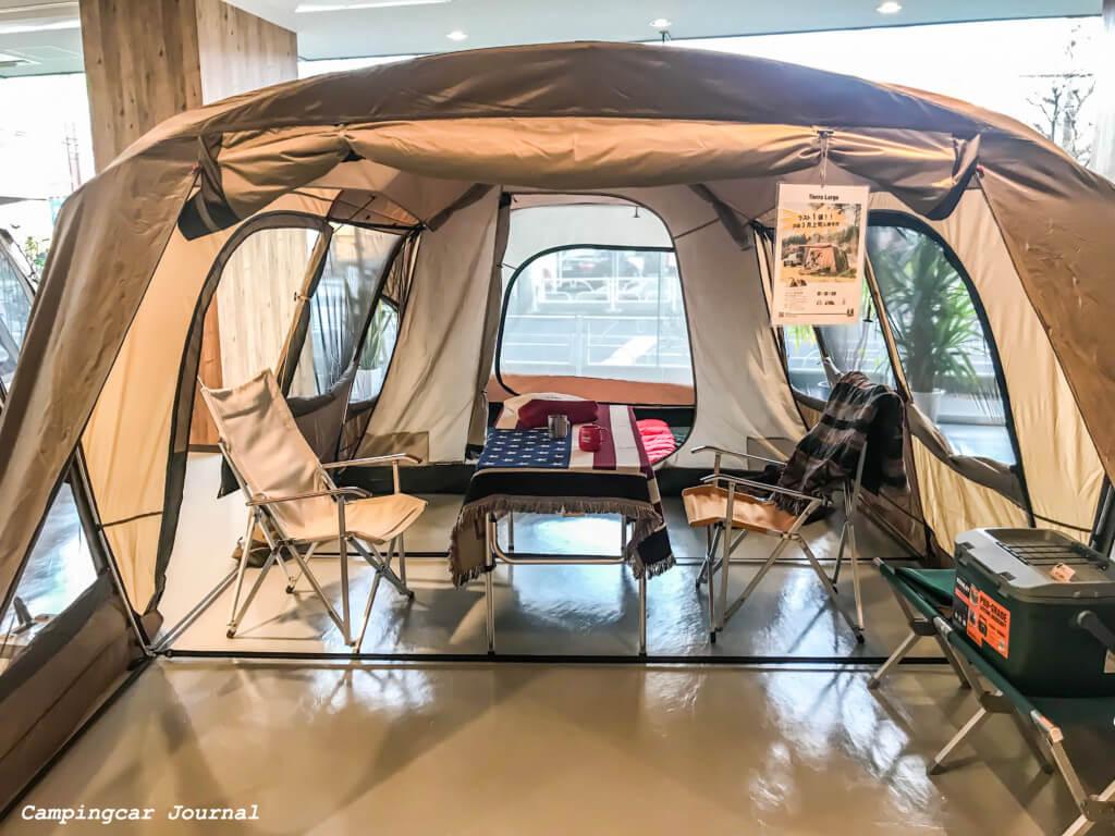 常設テントの様子