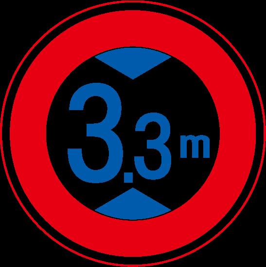道路標識高さ制限