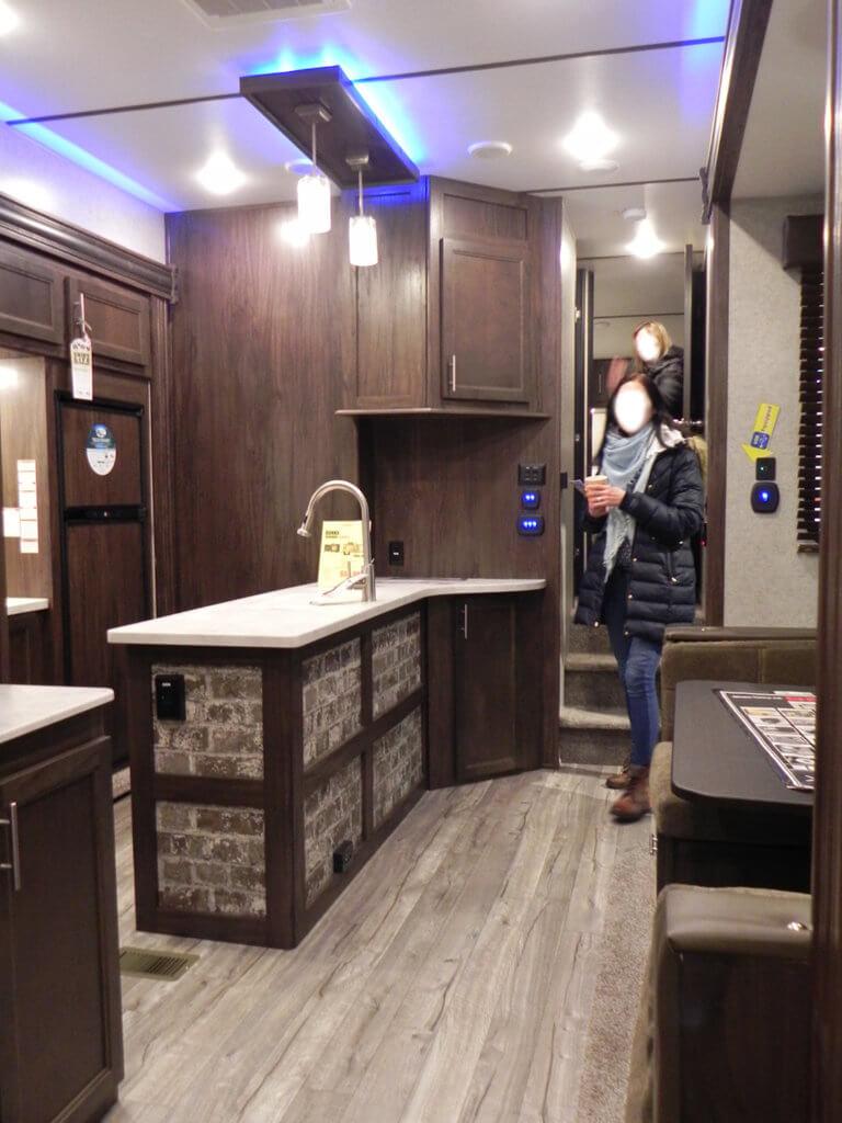 RV kitchen counter