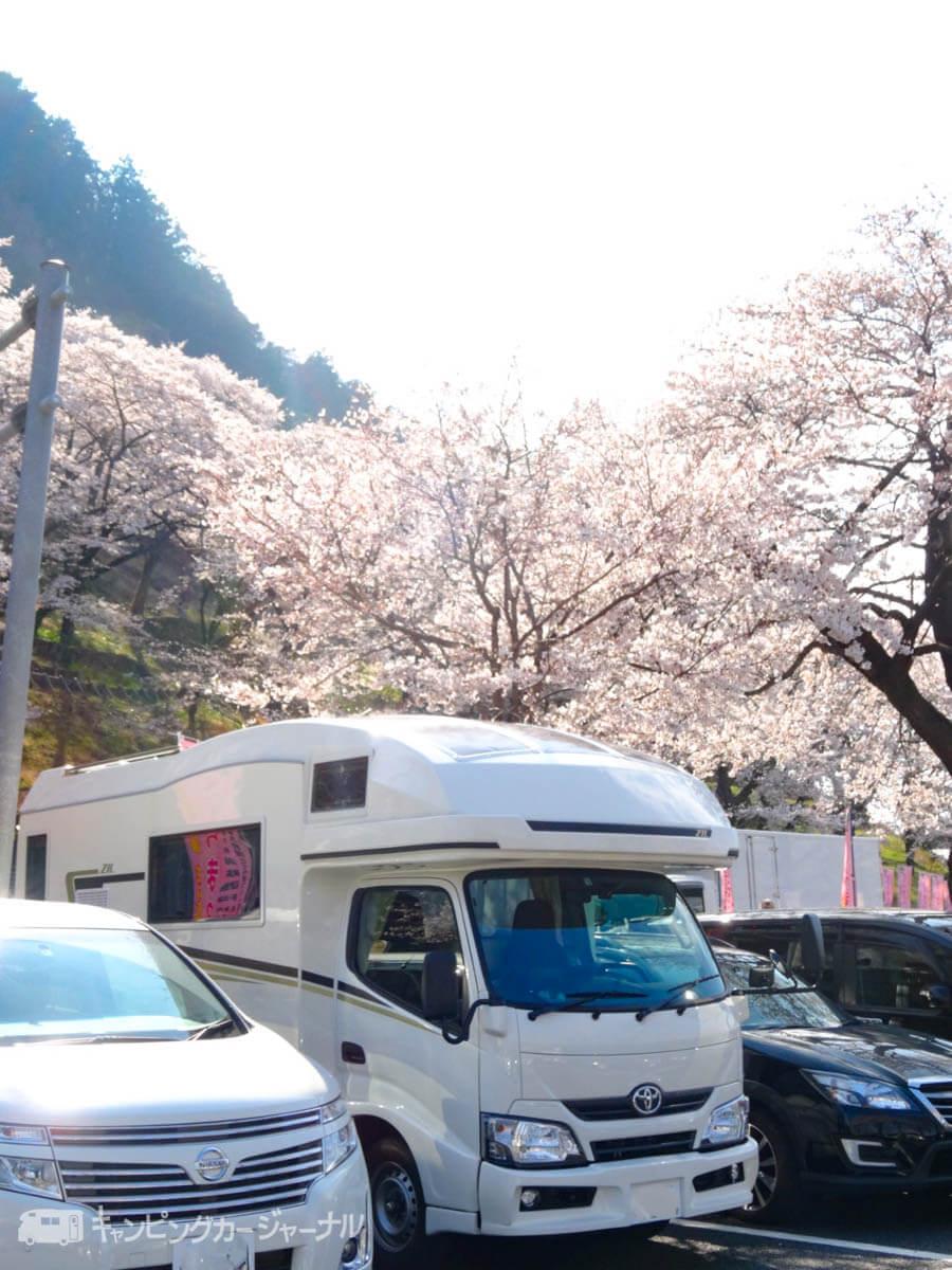 桜の駐車場とバンテックZiL