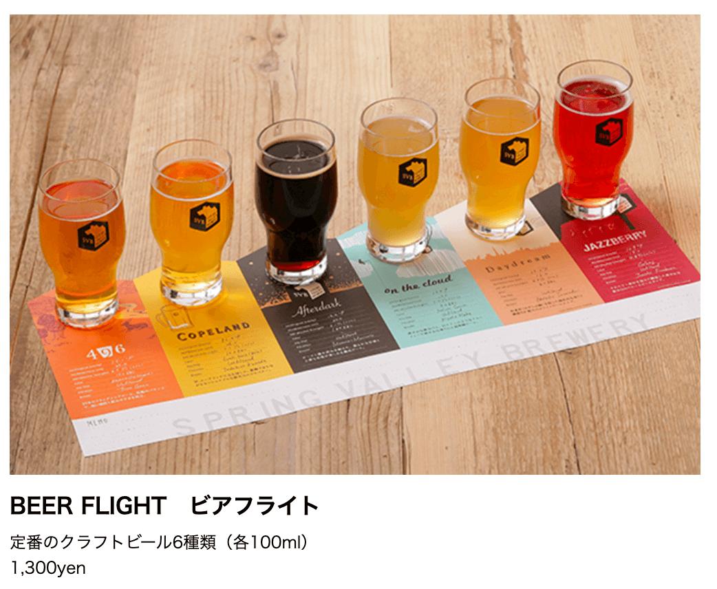 定番のクラフトビール6種類(各100ml) 1,300yen