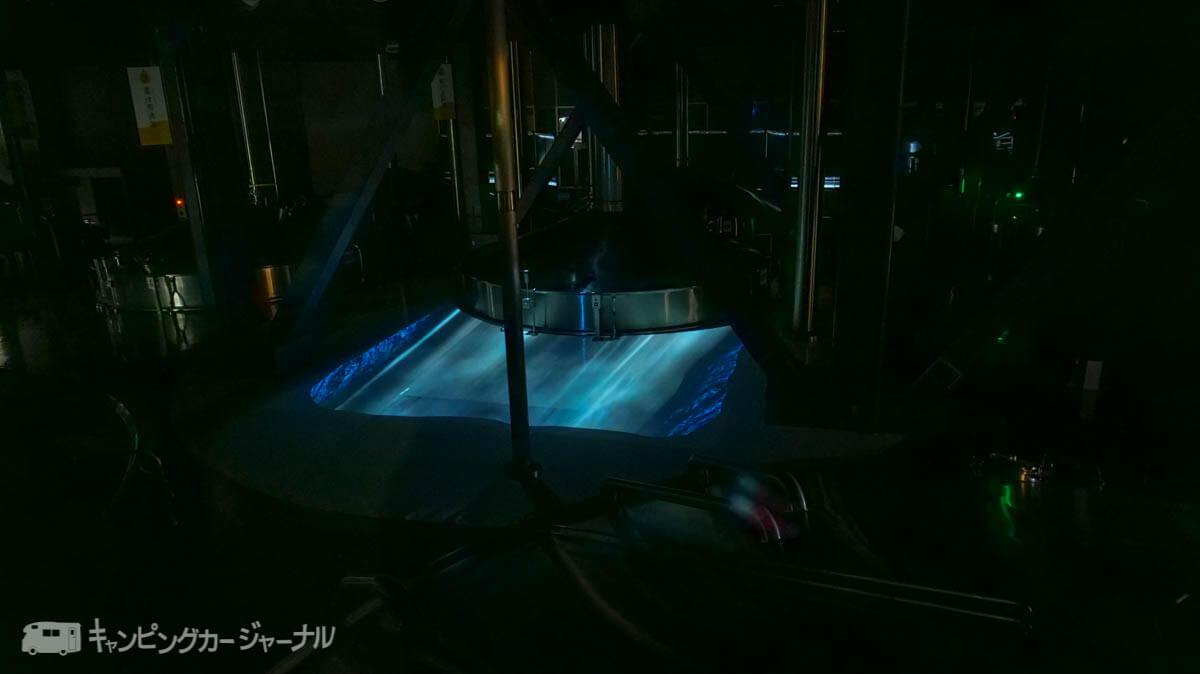 キリンビール横浜工場のプロジェクションマッピング