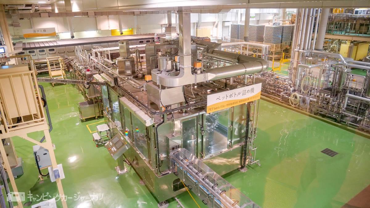 キリンビール横浜工場の製造ライン