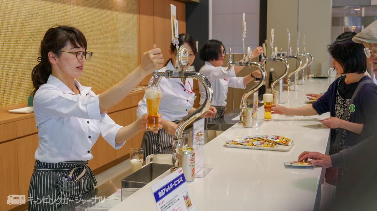 キリンビール横浜工場で一番搾りを試飲