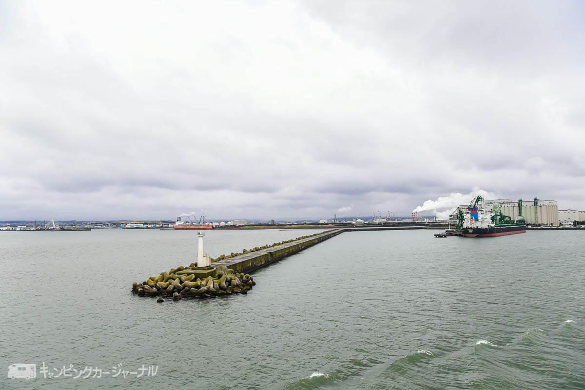 大洗港を出港