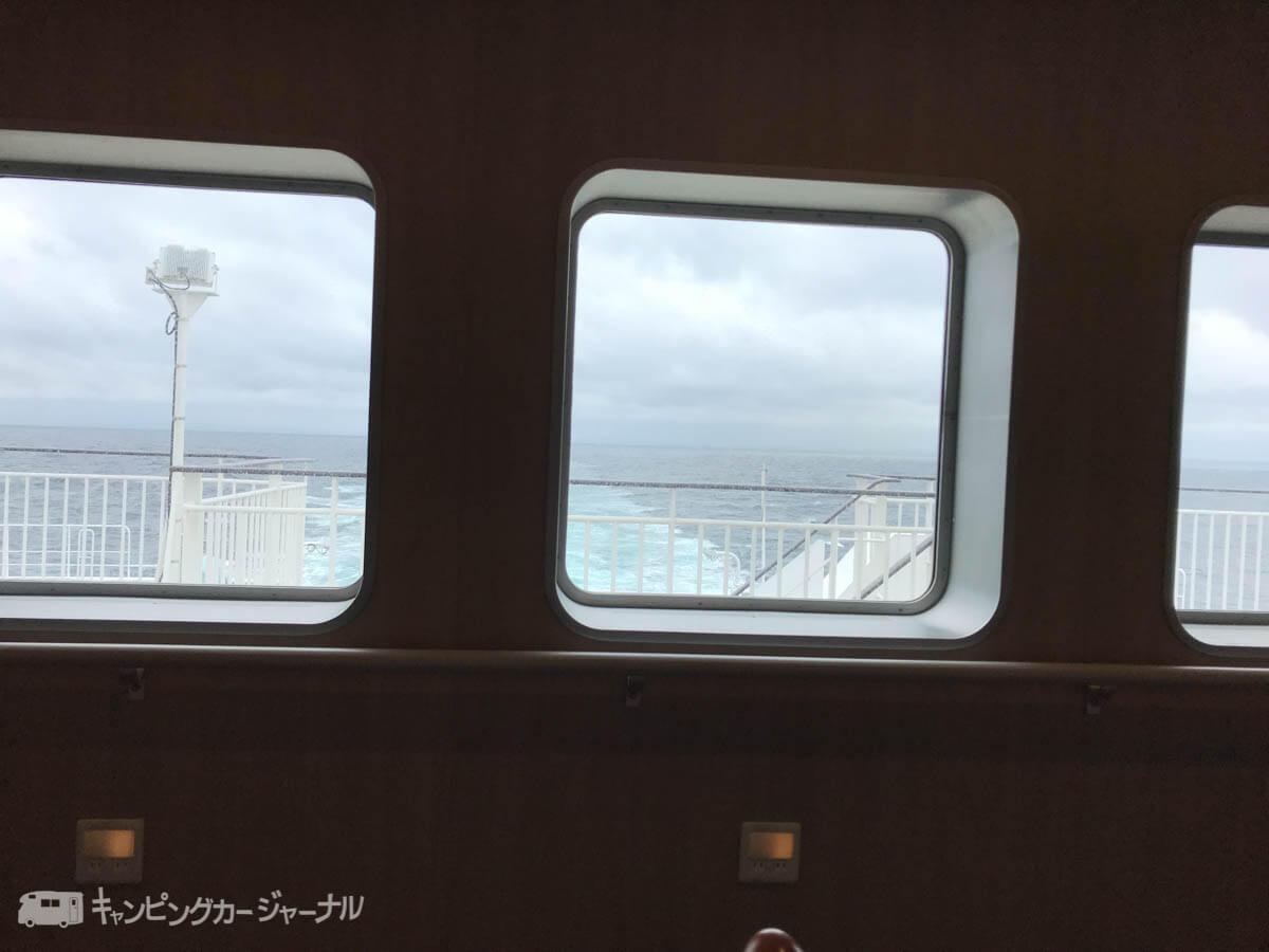 苫小牧到着まで船内で