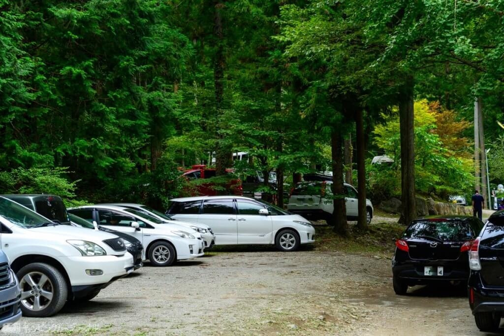 椿荘オートキャンプ場駐車場