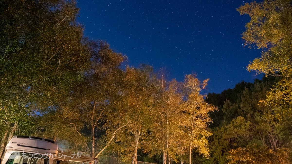 銀河もみじキャンプ場の星空を撮影