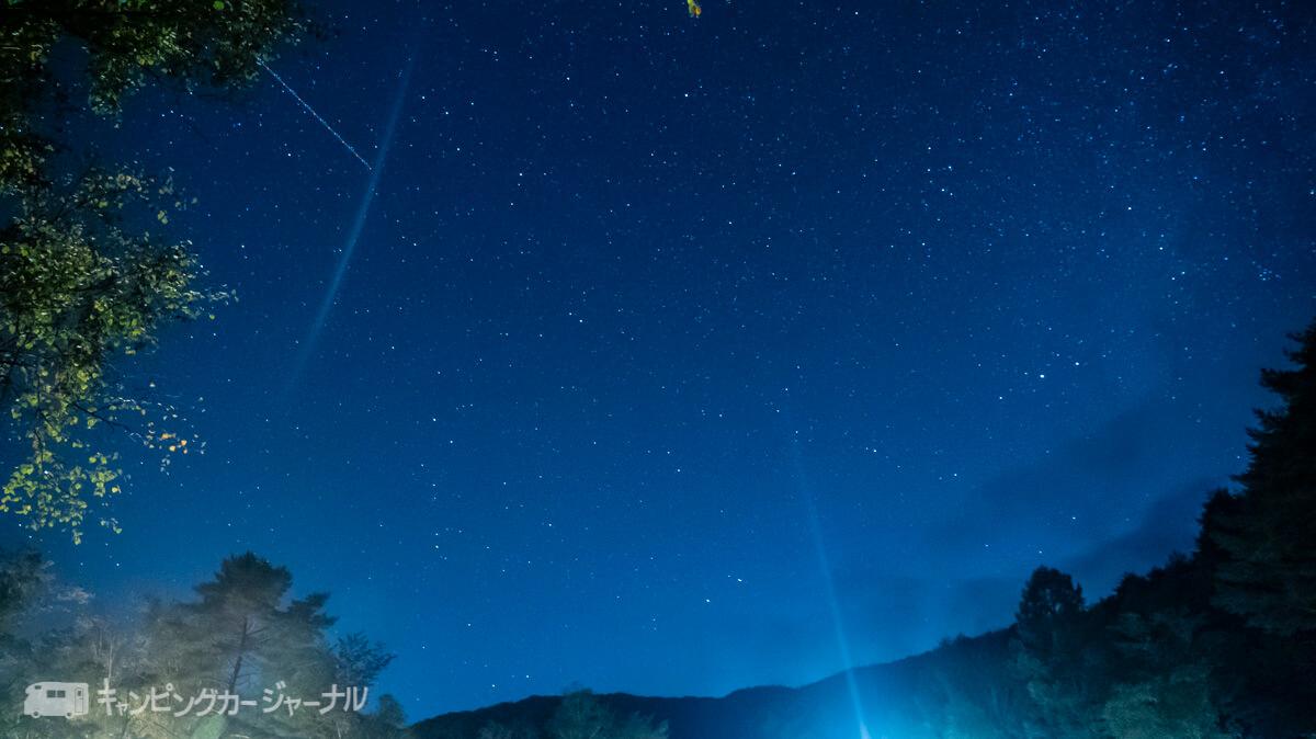 銀河もみじキャンプ場の星空を撮影で流れ星もとれました2