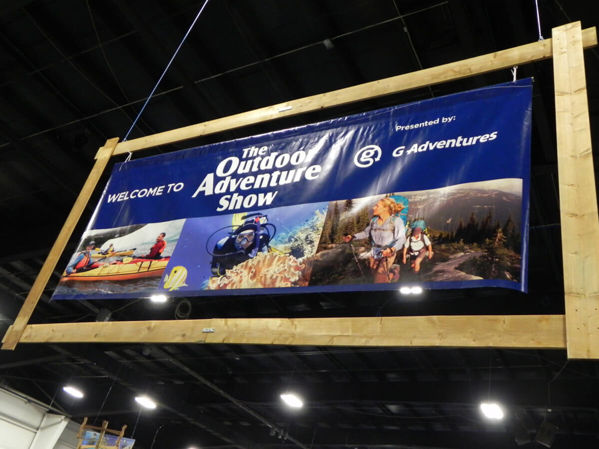 adventure show signboard